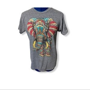 """Riot Society """"Elephant """" Colorful T-shirt …"""